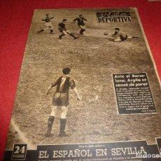 Coleccionismo deportivo: (LLL)VIDA DEPORTIVA Nº: 385(26-1-53) SEVILLA 2 ESPAÑOL 1,BARÇA 4 OVIEDO 1. Lote 184682461