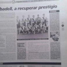 Coleccionismo deportivo: SABADELL 94-95. Lote 184824288