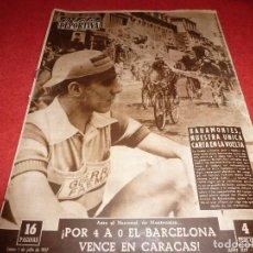 Coleccionismo deportivo: (LLL)VIDA DEPORTIVA Nº:615(1-7-57) BAHAMONTES,RALLYE DE CATALUÑA,MOTOCICLISMO. Lote 185782952