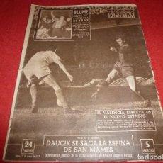 Coleccionismo deportivo: (LLL)VIDA DEPORTIVA Nº:643(13-1-58)JOAQUIN BLUME EL MEJOR!!!GOTEBORG 3 ESPAÑOL 1,BARÇA 1 VALENCIA 1. Lote 185788810
