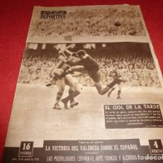 Coleccionismo deportivo: (LLL)VIDA DEPORTIVA Nº:651(10-3-58)BARÇA 7 VALLADOLID 1,VALENCIA 2 ESPAÑOL 1. Lote 185873936
