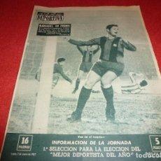 Coleccionismo deportivo: (LLL)VIDA DEPORTIVA Nº:850(1-1-62) BARÇA 5 R.SOCIEDAD 0, BOXEO. Lote 185879908