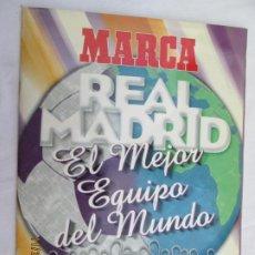 Coleccionismo deportivo: ALBUM MARCA , REAL MADRID EL MEJOR EQUIPO DEL MUNDO , LOS 20 PARTIDOS DE LA LEYENDA BLANCA . Lote 185932277