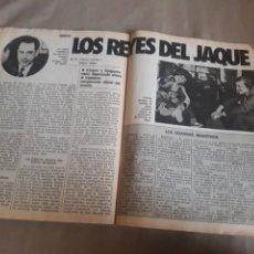 Coleccionismo deportivo: LOS REYES DEL JAQUE - MUNDIAL DE AJEDREZ , KARPOV - KASPAROV AÑO 1984 , 3 PAGINAS. Lote 185977163
