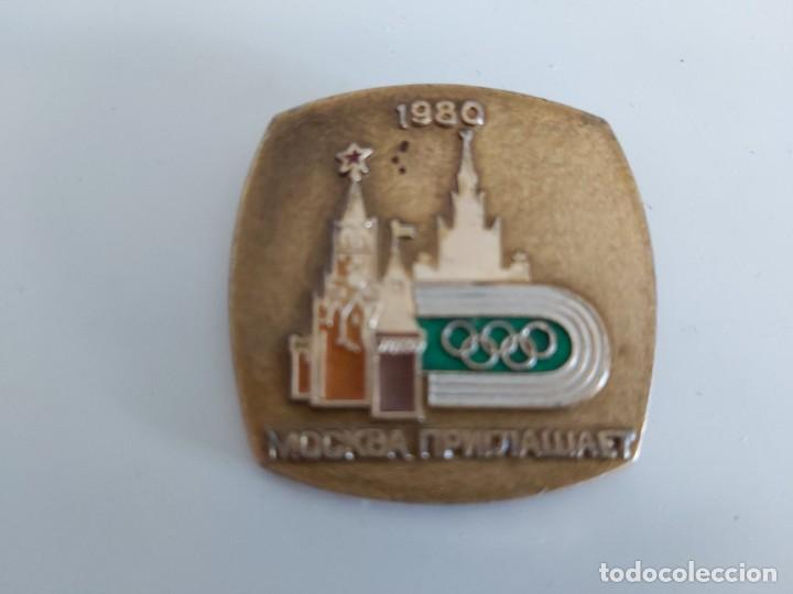 INSIGNIA URSS OLIMPIADA 80 MOSCU. (Coleccionismo Deportivo - Revistas y Periódicos - Mundo Deportivo)