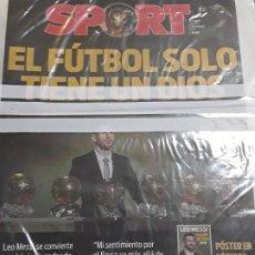 Coleccionismo deportivo: DIARIO PERIÓDICO SPORT 03-12-2019 LEO MESSI SEXTO BALÓN DE ORO 2019 FC BARCELONA BARÇA FUTBOL . Lote 186084240