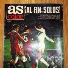 Coleccionismo deportivo: SEMANARIO GRAFICO DEPORTIVO AS COLOR Nº 450 5-1-1980 POSTER REAL ZARAGOZA MARADONA. Lote 186258180