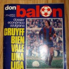 Coleccionismo deportivo: REVISTA DON BALON 1977 Nº 67 POSTER 8 PAGINAS FC BARCELONA CAMPEON INVIERNO CRUYFF. Lote 186258800