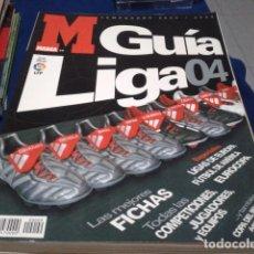 Coleccionismo deportivo: GUIA MARCA(LIGA 04 - 2003/04 )FICHAS, JUGADORES, EQUIPOS, COMPETICIONES, LIGAS DE EUROPA, EUROCOPA, . Lote 186274488