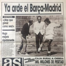 Coleccionismo deportivo: AS 25-5-1987 FINAL UEFA DUNDEE GOTEBORG INGLATERRA BRASIL COPA STANLEY. Lote 186288020
