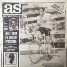 Coleccionismo deportivo: AS 19/5/1983 FINAL COPA UEFA ANDERLECHT BENFICA. Lote 186289137