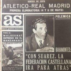 Coleccionismo deportivo: AS 30/1/1969 BILBAO ANDERLECHT FC BARCELONA LYNN. Lote 186289443