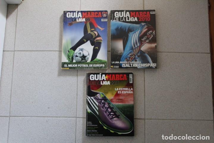 Coleccionismo deportivo: LOTE 8 GUÍA MARCA LA LIGA FÚTBOL. DIARIO MARCA. - Foto 4 - 186326421