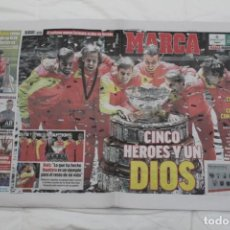 Coleccionismo deportivo: DIARIO MARCA 25/11/2019. SEXTA COPA DAVIS DE ESPAÑA. RAFA NADAL. TENIS.. Lote 221270395