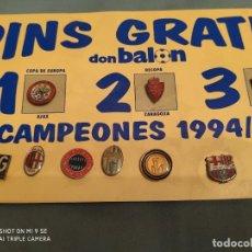 Coleccionismo deportivo: PINS CAMPEONES 94.95. Lote 176395532