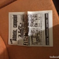 Coleccionismo deportivo: ANTIGUO PERIÓDICO AS ATHLETIC DE BILBAO CAMPEÓN DE LIGA . Lote 187236318