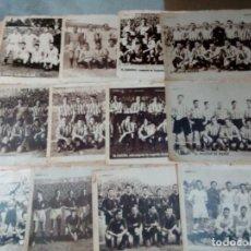 Coleccionismo deportivo: LOTE 12 ANTIGUAS LÁMINAS ALINEACIONES EQUIPOS AÑOS 40- VER FOTOS. Lote 187474218