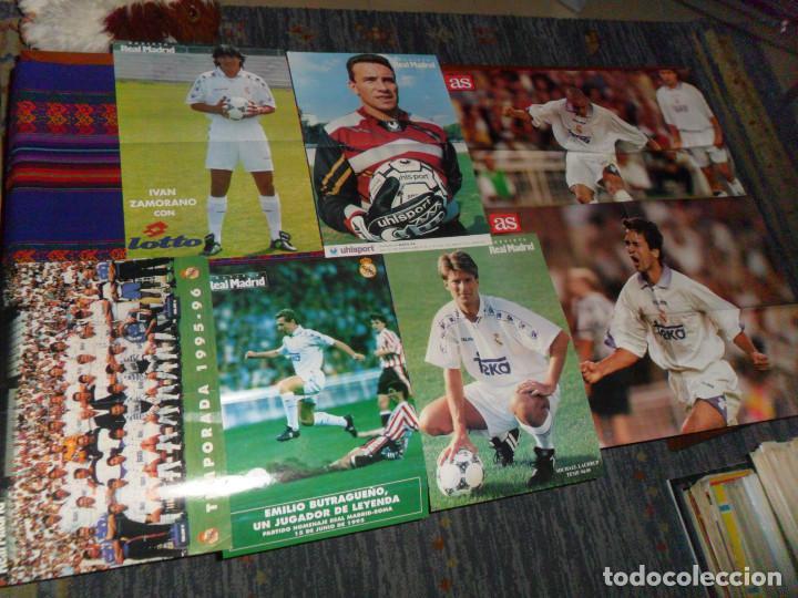 Coleccionismo deportivo: REAL MADRID 28 PERIÓDICOS Y ESPECIALES DE AS Y MARCA CON TÍTULOS Y GRANDES DÍAS. REGALO 15 POSTERS. - Foto 6 - 188380312