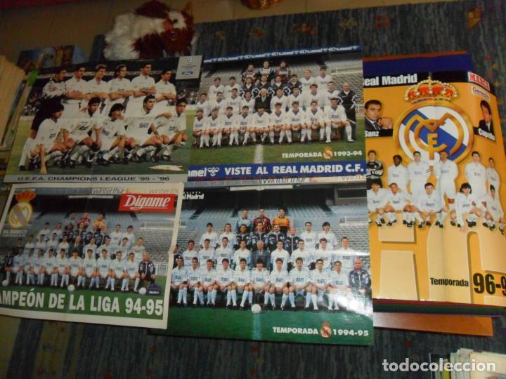 Coleccionismo deportivo: REAL MADRID 28 PERIÓDICOS Y ESPECIALES DE AS Y MARCA CON TÍTULOS Y GRANDES DÍAS. REGALO 15 POSTERS. - Foto 7 - 188380312