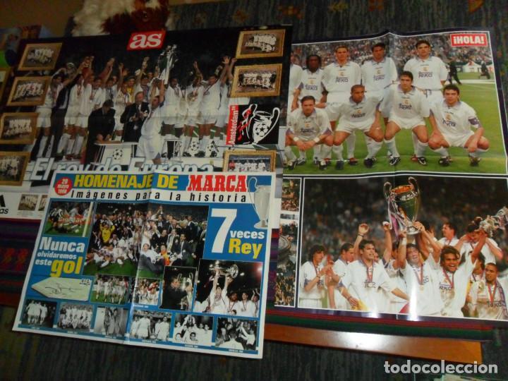 Coleccionismo deportivo: REAL MADRID 28 PERIÓDICOS Y ESPECIALES DE AS Y MARCA CON TÍTULOS Y GRANDES DÍAS. REGALO 15 POSTERS. - Foto 8 - 188380312