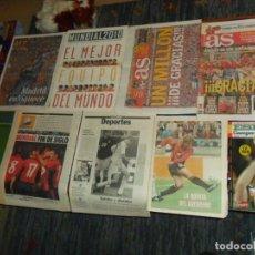 Coleccionismo deportivo: SELECCIÓN ESPAÑA ESPAÑOLA FÚTBOL 12 PUBLICACIONES AS MARCA ABC DE TÍTULOS Y GRANDES DÍAS CON REGALO.. Lote 188393783