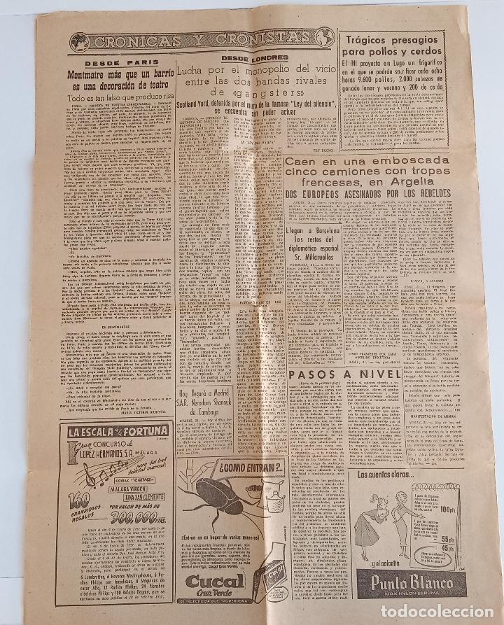 Coleccionismo deportivo: MEDITERRANEO DIARIO DE FALANGE ESPAÑOLA TRADICIONALISTA Y DE LAS JONS. CASTELLÓN DE LA PLANA 1956. W - Foto 2 - 188470911