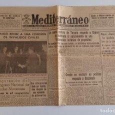 Coleccionismo deportivo: MEDITERRANEO DIARIO DE FALANGE ESPAÑOLA TRADICIONALISTA Y DE LAS JONS. CASTELLÓN DE LA PLANA 1956. W. Lote 188470911