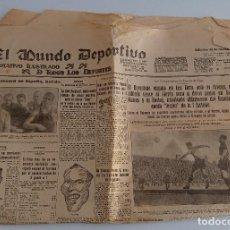Coleccionismo deportivo: EL MUNDO DEPORTIVO. EDICION DE NOCHE. 30-NOVIEMBRE- 1931. W. Lote 188471333