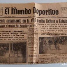 Coleccionismo deportivo: EL MUNDO DEPORTIVO. EDICION DE MAÑANA. MOMENTO CULMINANTE DE VUELTA CICLISTA CATALUÑA. JUNIO 1936. W. Lote 188471458