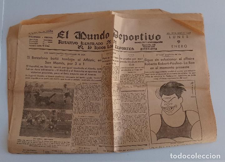 EL MUNDO DEPORTIVO. EDICION DE LA NOCHE. ENERO 1933. W (Coleccionismo Deportivo - Revistas y Periódicos - Mundo Deportivo)