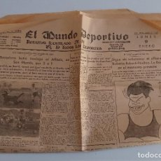 Coleccionismo deportivo: EL MUNDO DEPORTIVO. EDICION DE LA NOCHE. ENERO 1933. W. Lote 188502271