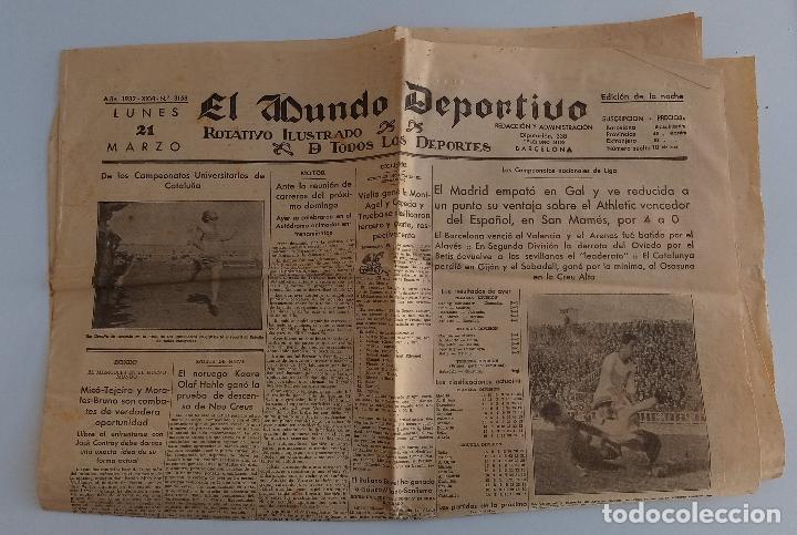 EL MUNDO DEPORTIVO. EDICION DE LA NOCHE. 21 MARZO 1932. W (Coleccionismo Deportivo - Revistas y Periódicos - Mundo Deportivo)