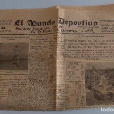 Coleccionismo deportivo: EL MUNDO DEPORTIVO. EDICION DE LA NOCHE. 21 MARZO 1932. W. Lote 188502397