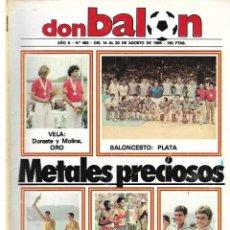 Coleccionismo deportivo: REVISTA DON BALON Nº 462 - 1984. Lote 188558645