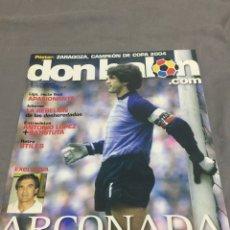 Coleccionismo deportivo: DON BALON N 1799 ARCONADA POSTER REAL ZARAGOZA CAMPEÓN. Lote 188847115