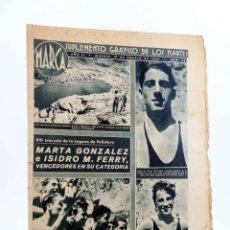 Coleccionismo deportivo: MARCA, SUPLEMENTO GRÁFICO DE LOS MARTES Nº 38. 17 DE AGOSTO DE 1943. ATLETISMO (VVAA) MARCA, 1943. Lote 189100312