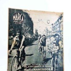 Coleccionismo deportivo: MARCA, SUPLEMENTO GRÁFICO DE LOS MARTES Nº 40. 31 DE AGOSTO DE 1943. CICLISMO: MARTÍN MANCISIDOR (VV. Lote 189100318