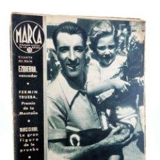 Collectionnisme sportif: MARCA, SEMANARIO GRÁFICO DE LOS DEPORTES Nº 186. 1 DE SEPTIEMBRE DE 1942. CICLISMO: CIRCUITO DEL NOR. Lote 189100333