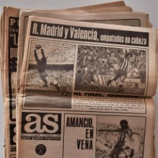 Coleccionismo deportivo: LOTE 14 PERIÓDICOS AS AÑOS 1969 A 1974 - ORO PAQUITO FERNÁNDEZ, CLÁSICO BARCELONA REAL MADRID. Lote 189108876