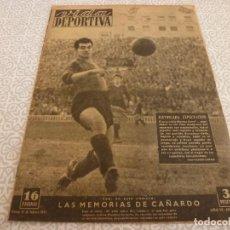 Coleccionismo deportivo: (LLL)VIDA DEPORTIVA Nº:180(15-2-49)LUIS ROMERO,MARIANO CAÑARDO,NASTIC 3 BILBAO1,BARÇA 3 CELTA 1.. Lote 189214662