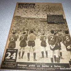 Coleccionismo deportivo: (LLL)VIDA DEPORTIVA Nº:221(29-11-49)R.MADRID 7 MEJICO 1,WITTY(BARÇA)CARTEL BODAS ORO BARÇA. Lote 189216975