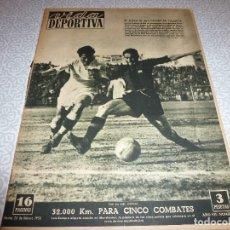 Colecionismo desportivo: (LLL)VIDA DEPORTIVA Nº:234(28-2-50)ESPAÑOL 3 NASTIC 1,VALENCIA 4 BARÇA 0. Lote 189218615