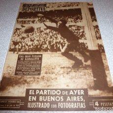 Collectionnisme sportif: (LLL)VIDA DEPORTIVA Nº:408(6-7-53)ARGENTINA 1 ESPAÑA 0,LOS HARLEM GLOBE TROTTERS.. Lote 189238341