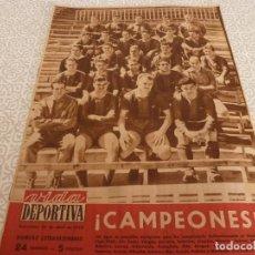Collectionnisme sportif: (LLL)VIDA DEPORTIVA Nº:EXTRA(20-4-59) BARÇA 7 OVIEDO 1 !!!CAMPEONES LIGA !!!R.MADRID 3 ESPAÑOL 3. Lote 189254791