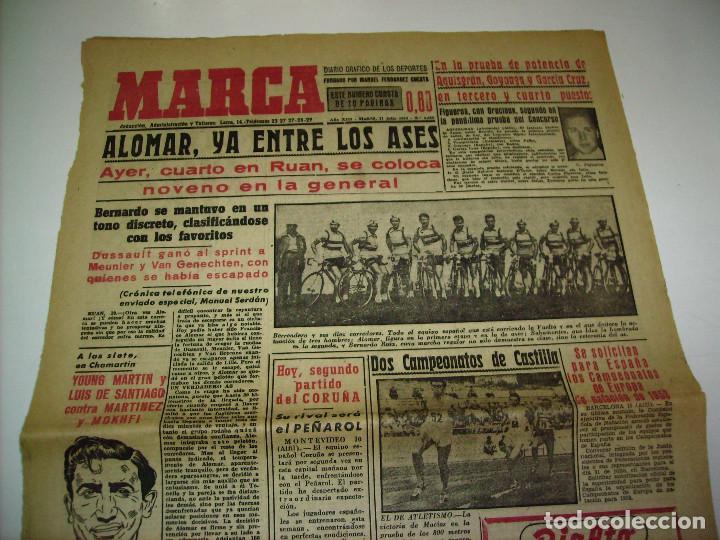 Coleccionismo deportivo: 29 PORTADAS DIARIO MARCA AÑOS 1954 Y 1955 - Foto 2 - 189396445