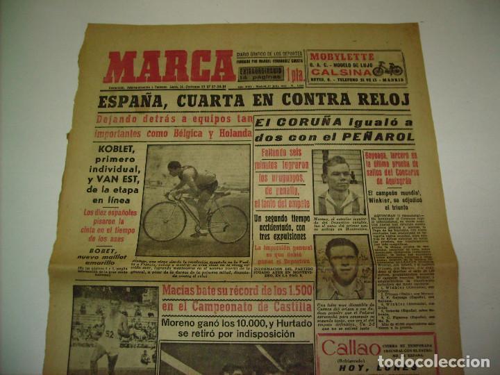 Coleccionismo deportivo: 29 PORTADAS DIARIO MARCA AÑOS 1954 Y 1955 - Foto 3 - 189396445