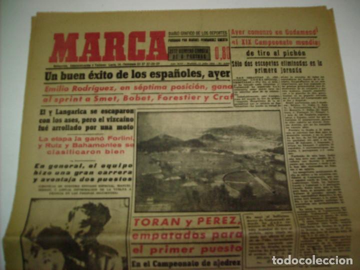 Coleccionismo deportivo: 29 PORTADAS DIARIO MARCA AÑOS 1954 Y 1955 - Foto 4 - 189396445