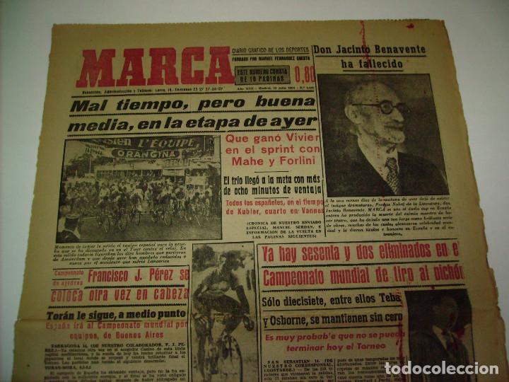 Coleccionismo deportivo: 29 PORTADAS DIARIO MARCA AÑOS 1954 Y 1955 - Foto 5 - 189396445