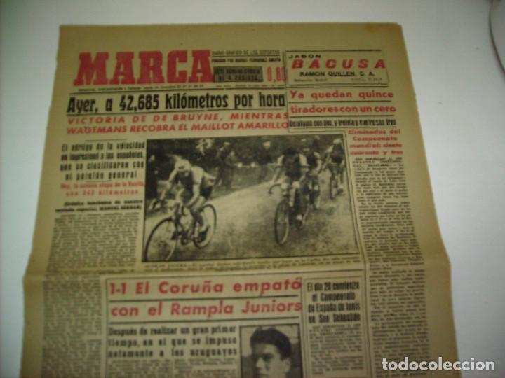 Coleccionismo deportivo: 29 PORTADAS DIARIO MARCA AÑOS 1954 Y 1955 - Foto 6 - 189396445