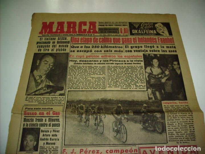 Coleccionismo deportivo: 29 PORTADAS DIARIO MARCA AÑOS 1954 Y 1955 - Foto 7 - 189396445